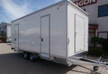 Mobile Wagen 57-Toiletten